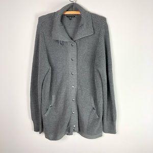 Eileen Fisher Merino Wool Chunky Gray Sweater